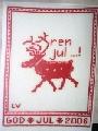 2006年  クリスマスの絵(トナカイ)