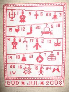 2008年  クリスマスの絵(アドベントカレンダー:拡大)