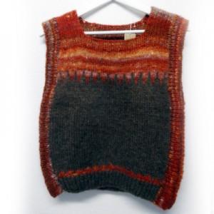 チハルのベスト手編み 日本製 ラース ヲルステッドの毛糸使用