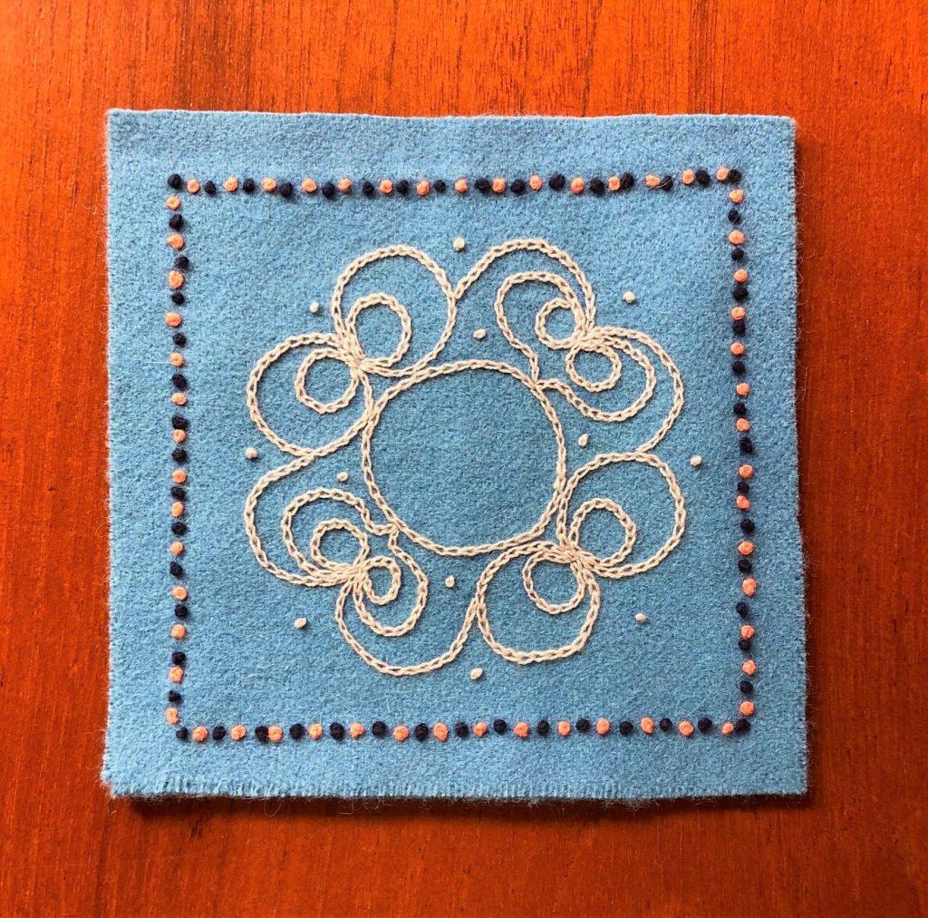 ウール布で作るコースター @ ヤマナシヘムスロイド
